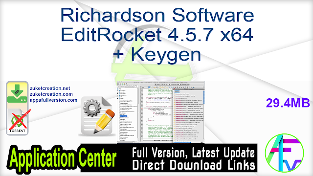 Richardson Software EditRocket 4.5.7 x64 + Keygen