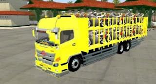 Mod BUSSID Truck Hino 500NG Muatan Motor