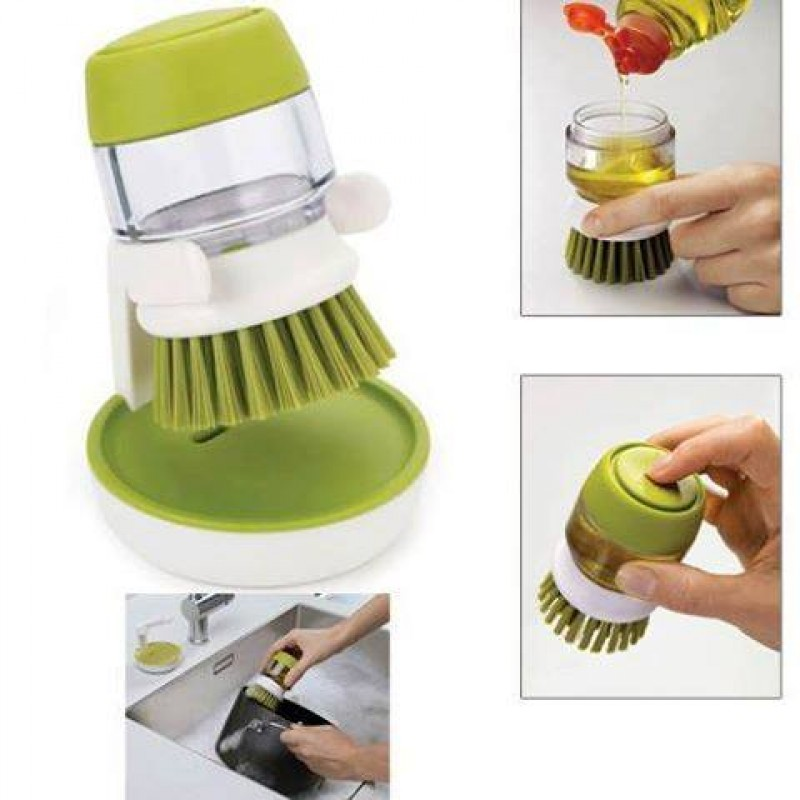 Soap Dispensing Palm Brush