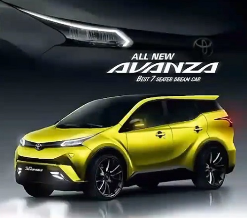 Mobil Toyota Avanza Baru design Facelift