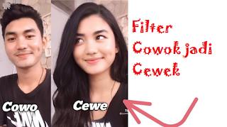 Filter cowok jadi cewek | filter yang lagi hits di tiktok yaitu filter tiktok jadi perempuan
