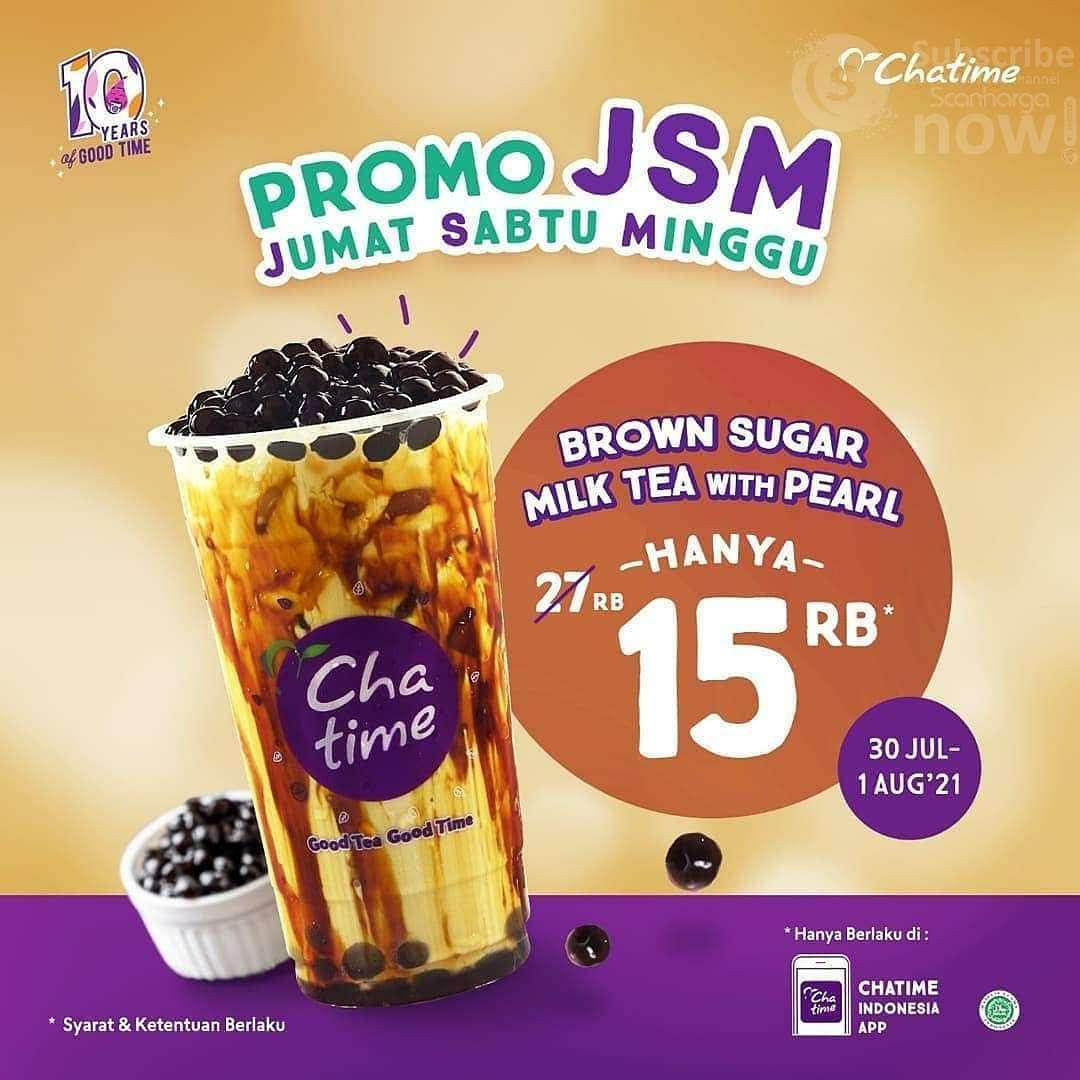 Promo JSM Chatime Weekend - Beli Chatime Milk Tea + Pearl hanya 15 RIBU