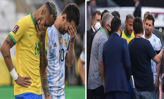 Scandal : Brazil-Argentina suspended as health officials storm field to confront Argentine players over COVID protocols