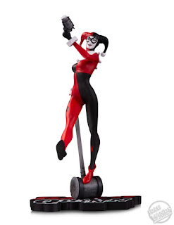 Toy Fair 2020 DC Direct Lineup Harley Quinn Red White and Black Statues