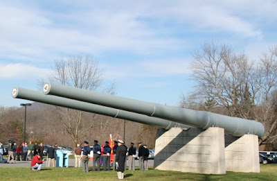 Two 14-inch guns from USS Pennsylvania on grounds of PA Military Museum