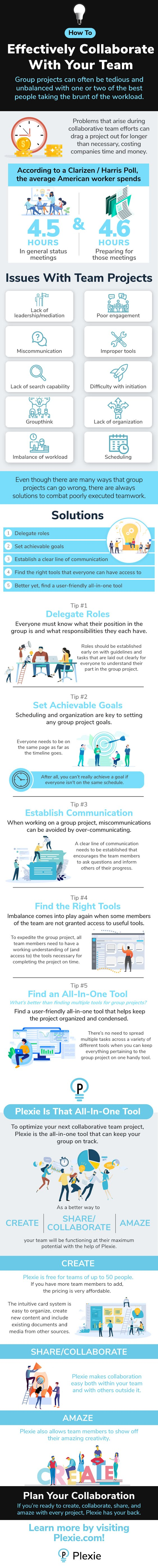 How To Effectively Collaborate With Your Team #infographic