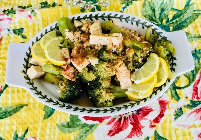 Lemon Broccoli and tofu @ www.realfoodblogger.com