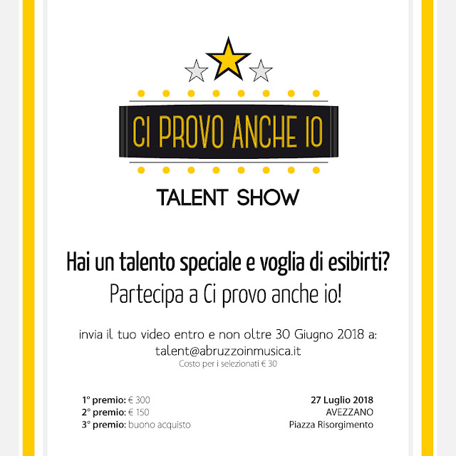 immagine social media - talent show avezzano
