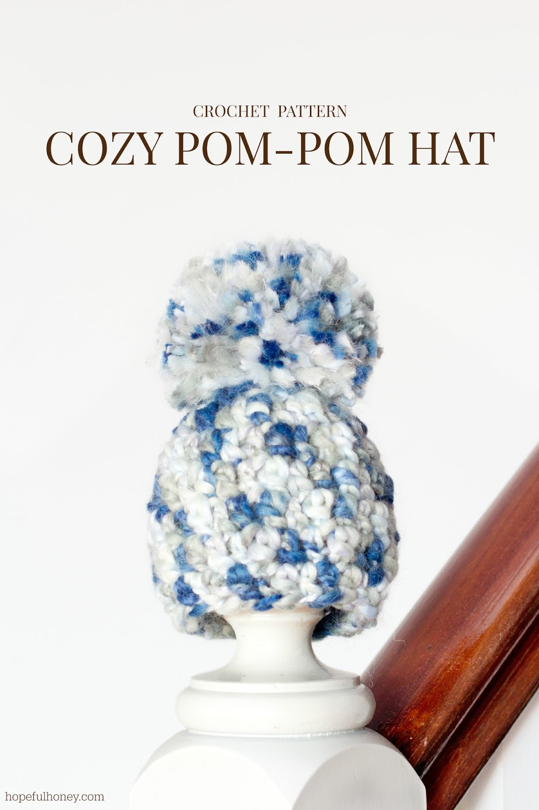 Crochet Baby Hat Pattern With Pom Pom : Hopeful Honey Craft, Crochet, Create: Cozy Newborn Pom ...