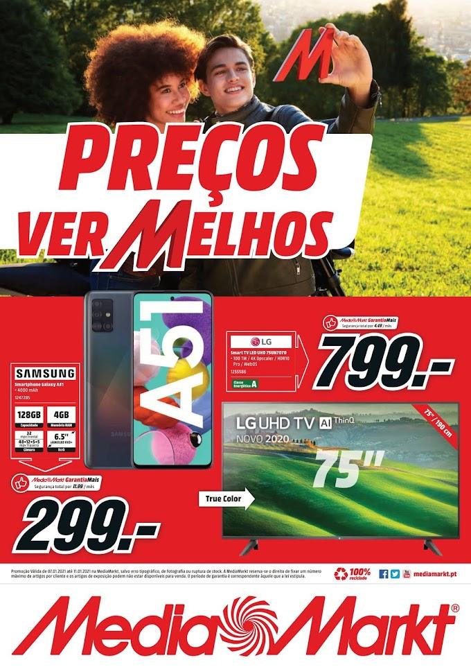 Folheto Media Markt - Preços Vermelhos - até 11 de Janeiro