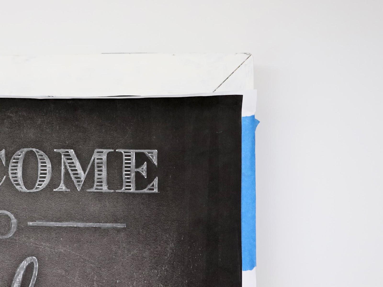 Chalkboard lettering DIY