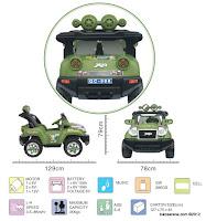 3 Mobil Mainan Aki Elite 008Q Jeep Jumbo Size