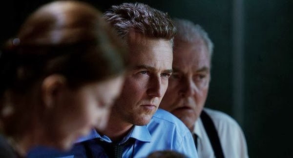 Ed Norton and Stacy Keach in The Bourne Legacy