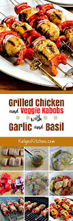 Grilled Chicken and Veggie Kabobs with Garlic and Basil found on KalynsKitchen.com