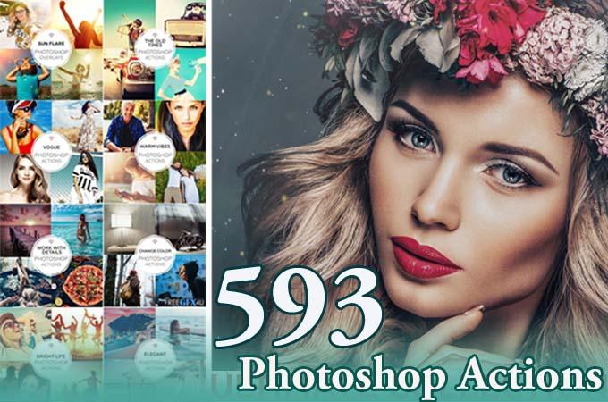 590 + Ultimate Photography Photoshop Actions Bundle