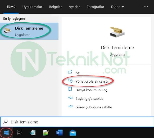 Disk Temizle ile Windows.old klasörünü silme