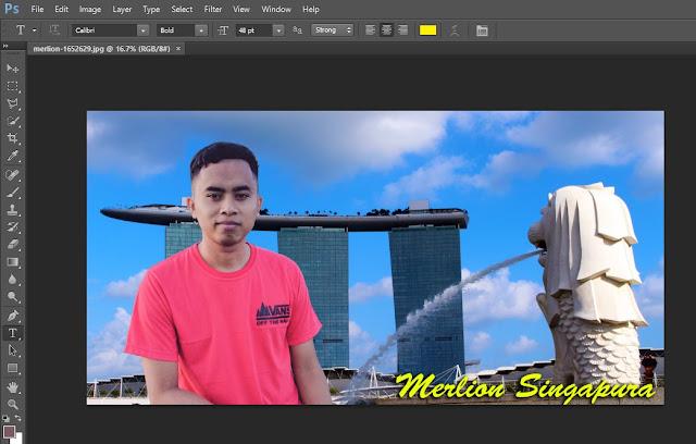 Cara crop foto dengan Crop Tool