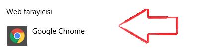 Windows 10'da Varsayılan Tarayıcı Değiştirme 5