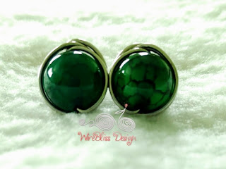 Simple Yet Elegant Studs Earrings wire wrapped by WireBliss