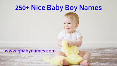 Nice baby Boy Names