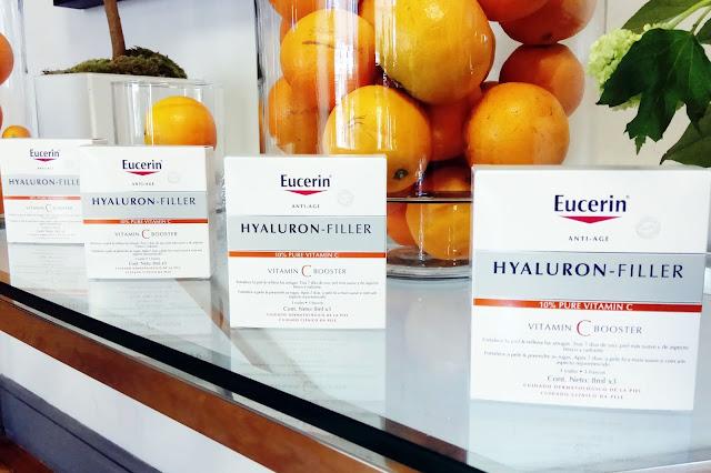 Eucerin Hyaluron Filler Vitamin C Booster pack tres viales