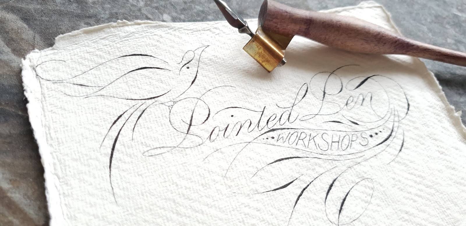 Pointed Pen Workshops with Francesca Valbonesi