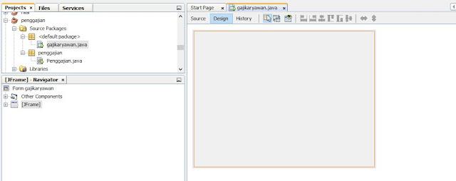 sistem penggajian karyawan sederhana di java netbeans