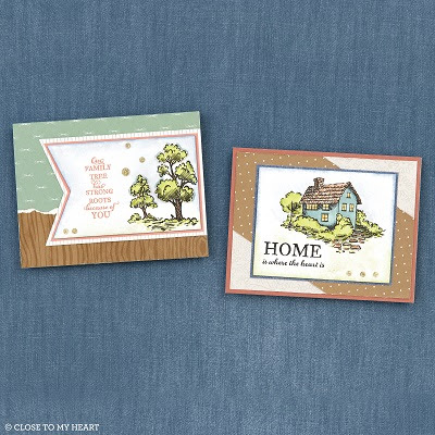 cards created with Strong Roots