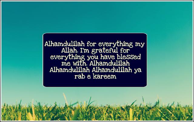 Alhamdulilah thanks Allah