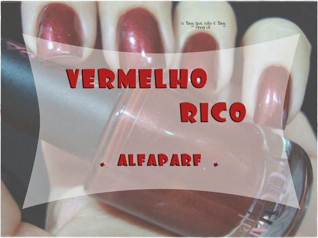 Vermelho Ricco Alfaparf Esmalte Nailpolish
