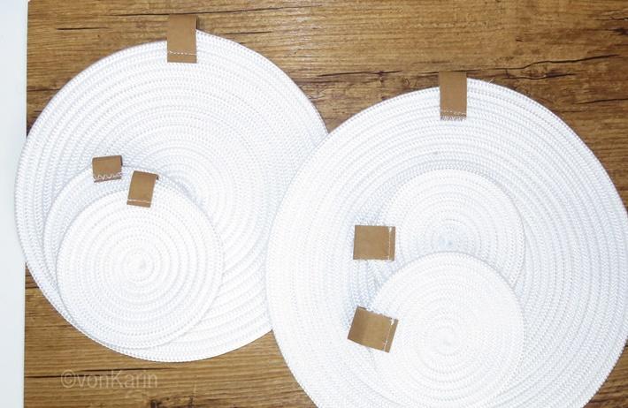 DIY: Untersetzer aus Seil naehen - Sewing rope rugs