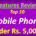 What are the latest smart phones under Rs. 5000 in March 2020