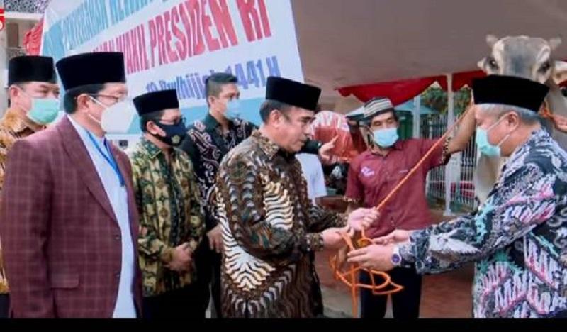Presiden Jokowi Serahkan Hewan Kurban di Masjid Istiqlal