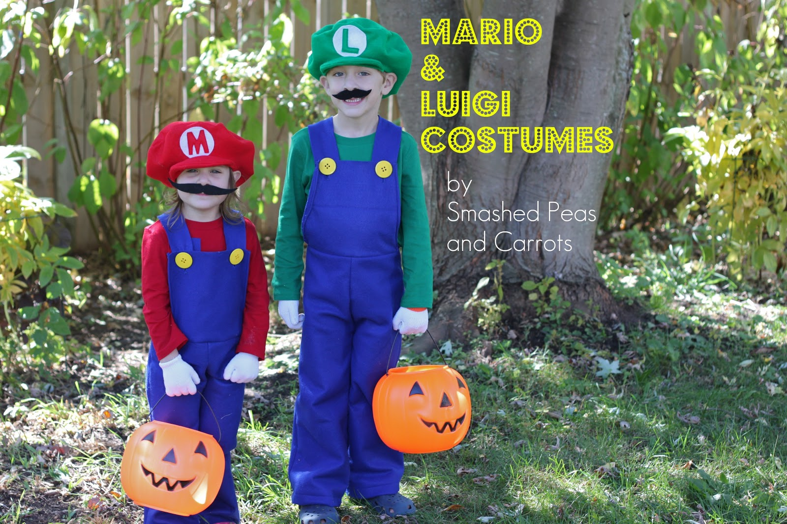 How To Make Mario And Luigi Costumes Tutorial Smashed Peas