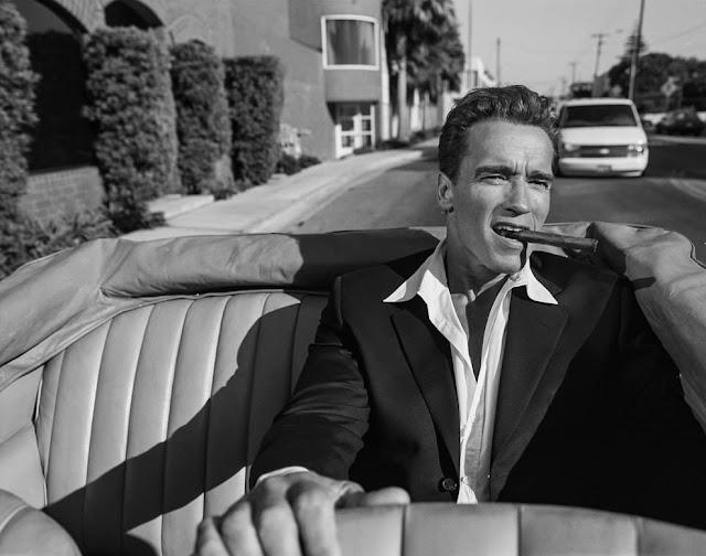 Arnold Schwarzenegger by Max Vadukul