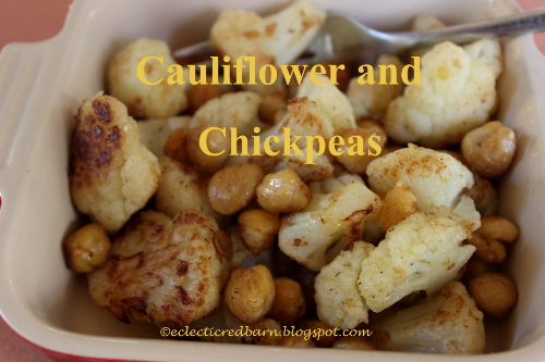 Eclectic Red Barn: 3 Ingredient Cauliflower and Chickpea Side