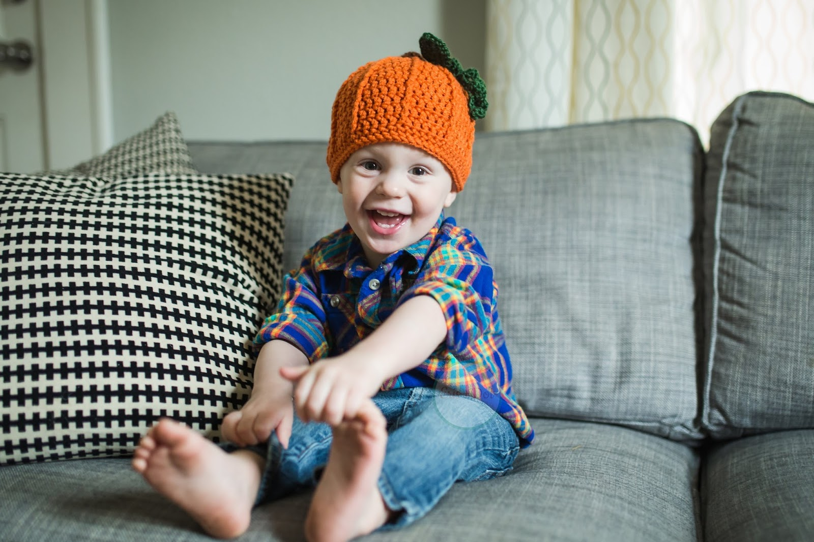Children's Crochet Pumpkin Hat, Crochet Beanie, Baby Pumpkin Hat, Pumpkin Beanie, Infant, Toddler, Halloween, Costume, Fall, Photo Prop, Girl, Boy
