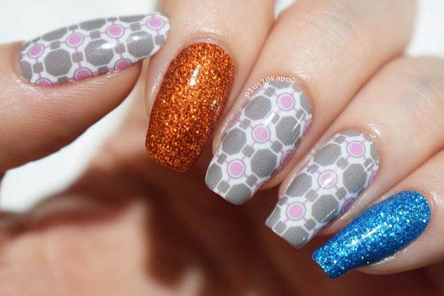 Espionage Cosmetics Nail Mail Monthly Buddy Block Nail Wraps nerdy nails companion cube portal