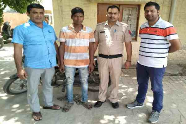 faridabad-crime-branch-sector-48-arrested-one-motorcycle-chor