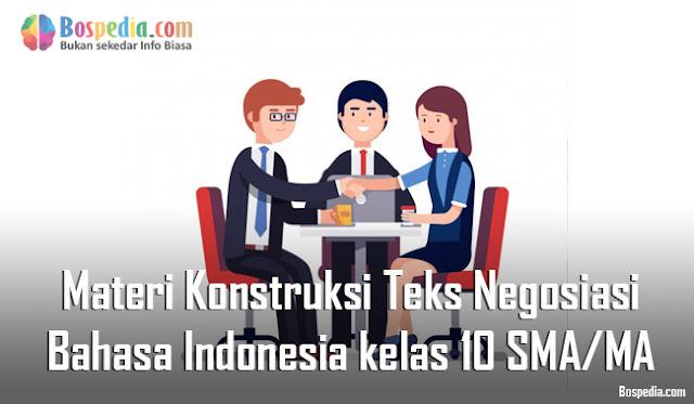 Materi Konstruksi Teks Negosiasi Mapel Bahasa Indonesia kelas 10 SMA/MA