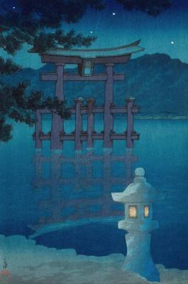 Starry Night at Miyajima Shrine