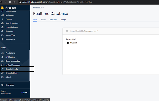 Firebase Remote Config in Firebase Console