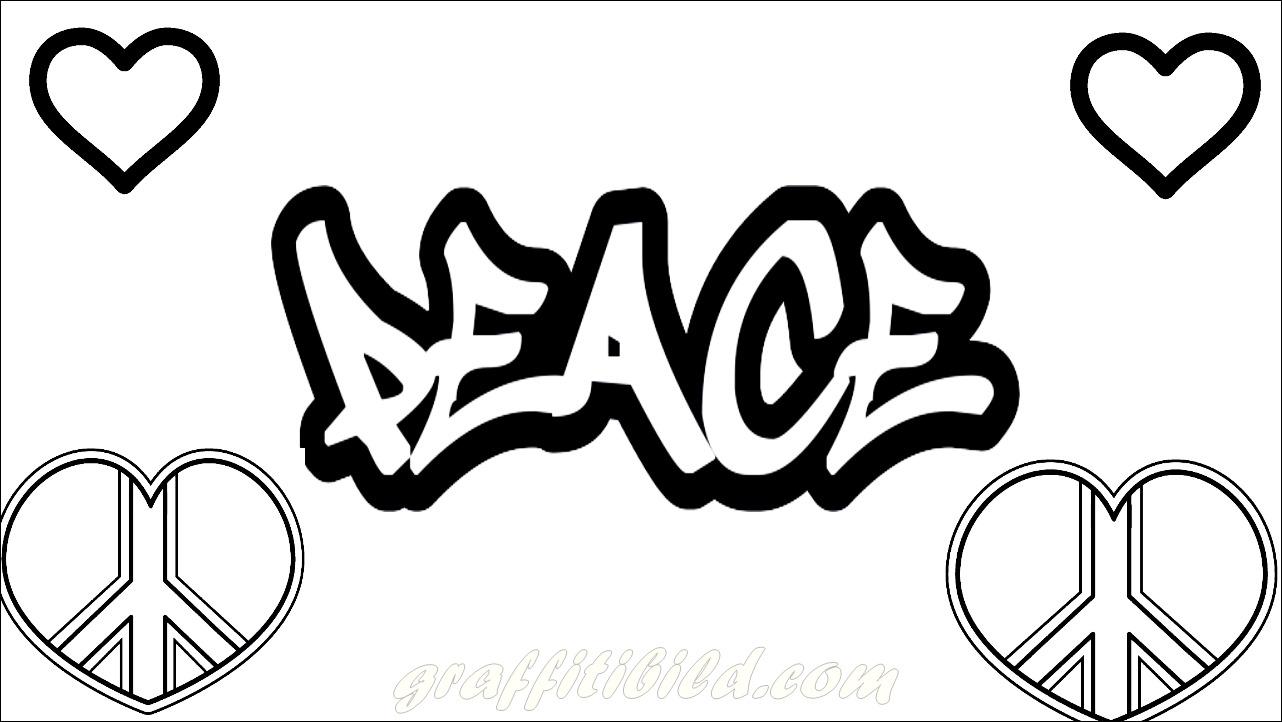 Beste Graffiti Ausmalbilder zum Ausdrucken Kostenlos ...