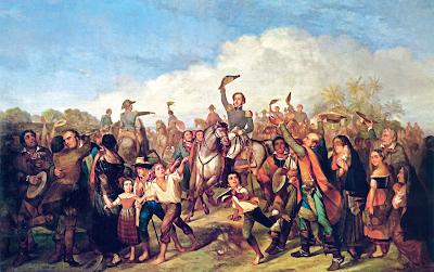 pintura de D Pedro I e a proclamação da Independência do Brasil às margens do Rio Ipiranga