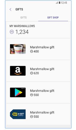 Samsung Marshmallow gifts