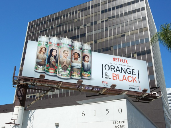 Orange is the New Black season 3 candles billboard