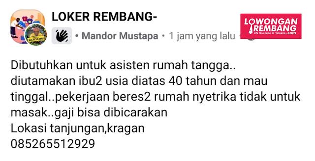 Lowongan Kerja Pegawai Teh Poci Area Pasar Rembang