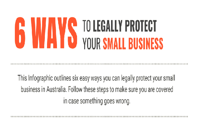 6 Ways to Legally Protect Your Small Business #infographic