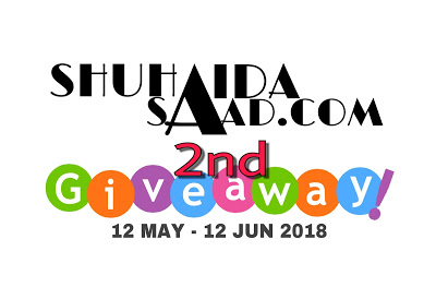 http://www.shuhaidasaad.com/2018/05/shuhaidasaadcom-2nd-giveaway.html
