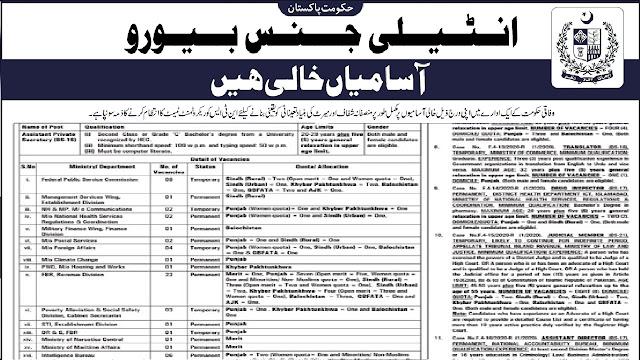 IB Jobs 2020 Apply Online Intelligence Bureau Pakistan Jobs 2020